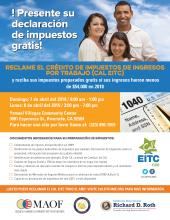 CalEITC4Me Free Tax Preparation Event In Riverside - Evento gratuito de preparación de impuestos CalEITC4Me en Riverside