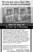 Line Up for Affordable Housing!